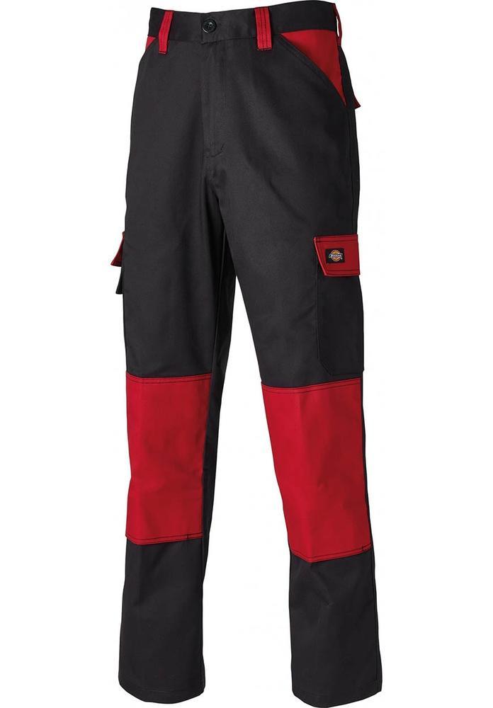 Dickies ED24/7 Everyday Men Work Trousers Black/Red