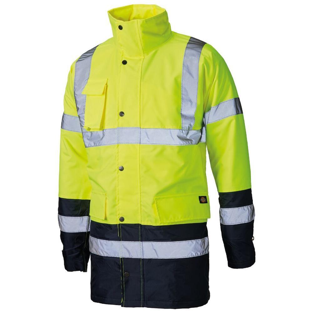Dickies SA22048 Two Tone Hi Vis Work Jacket Waterproof
