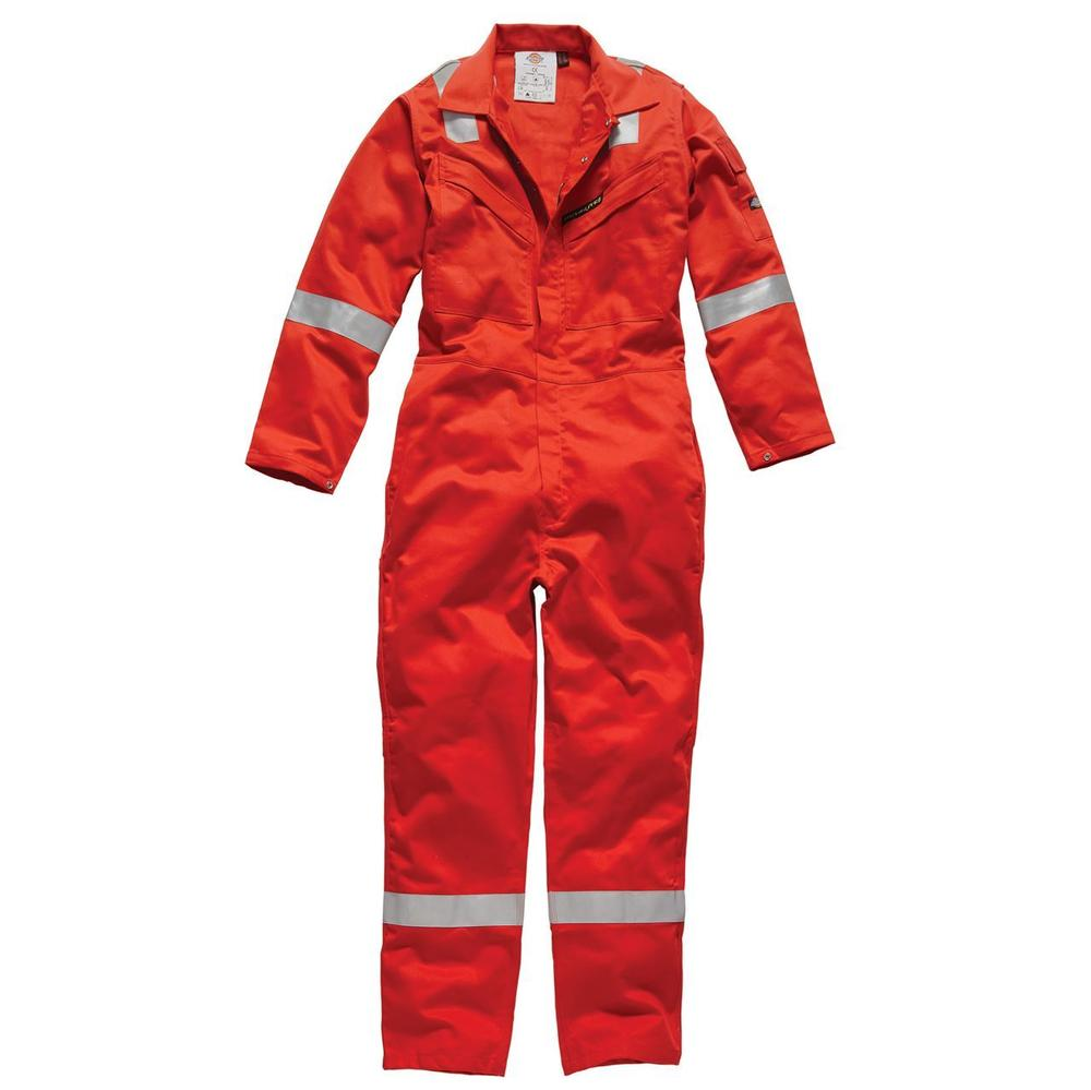 Dickies Flame Retardant FR5060 Firechief 350gm Coverall Red