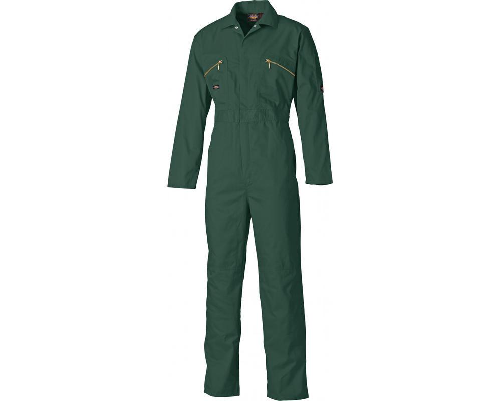 Dickies WD4839 Redhawk Men Work Overall Knee Pad Pockets Green