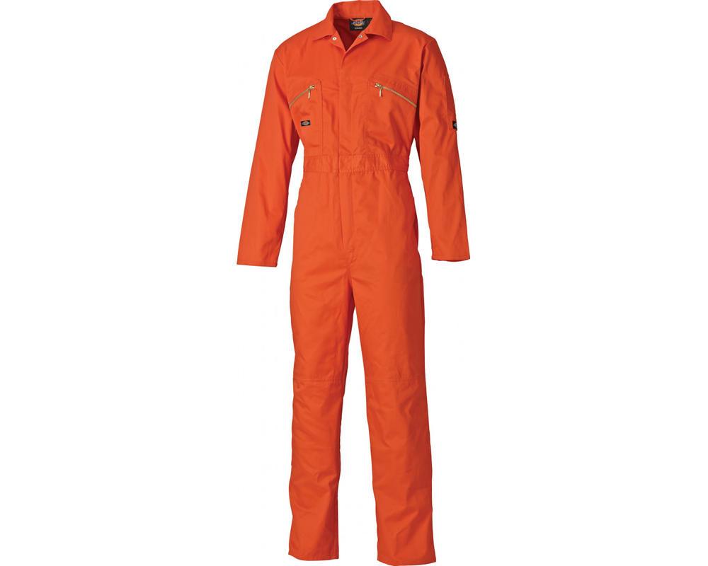 Dickies WD4839 Redhawk Men Work Overall Knee Pad Pockets Orange