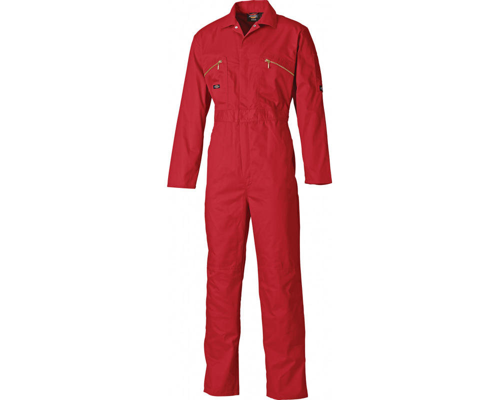 Dickies WD4839 Redhawk Men Work Overall Knee Pad Pockets Red