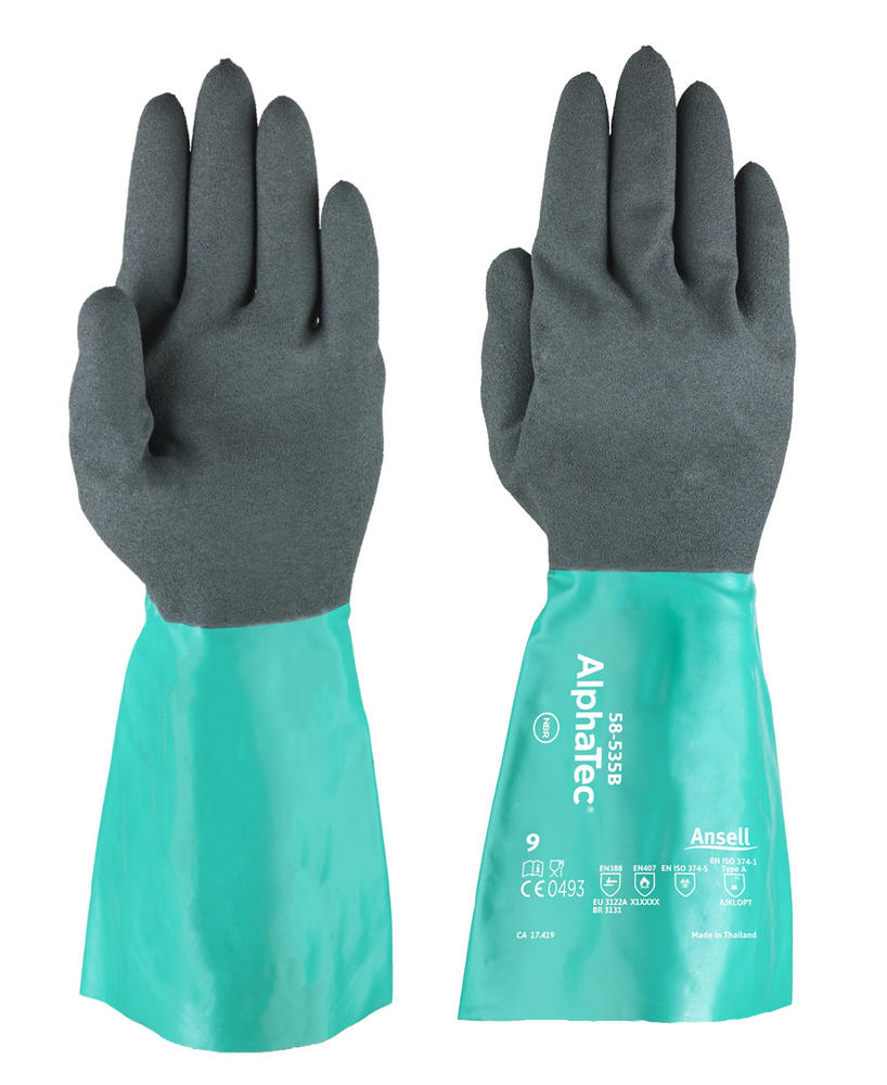 Ansell 58-535W AlphaTec Chemical Resistant Gauntlets
