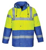 Portwest S466 Waterproof Contrast Hi-Vis Two Tones Traffic Work Jacket
