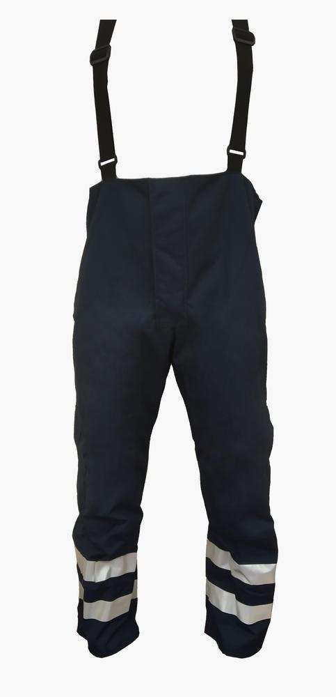 Arvello MP1057 FR Work Brace Trousers Waterproof HI Vis Flame Retardant Navy