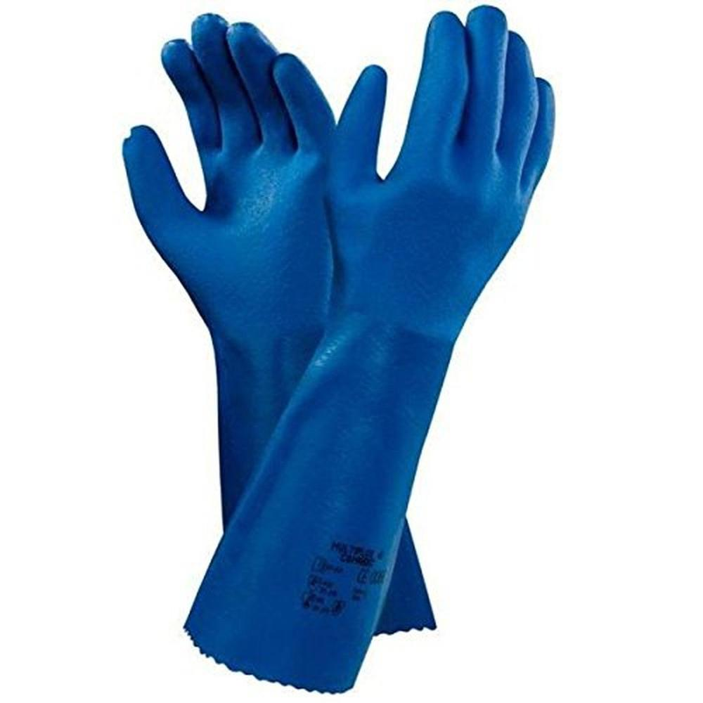 Ansell Multiplus 40 Chemical Resistant Gauntlets PVC Nitrile 40cm