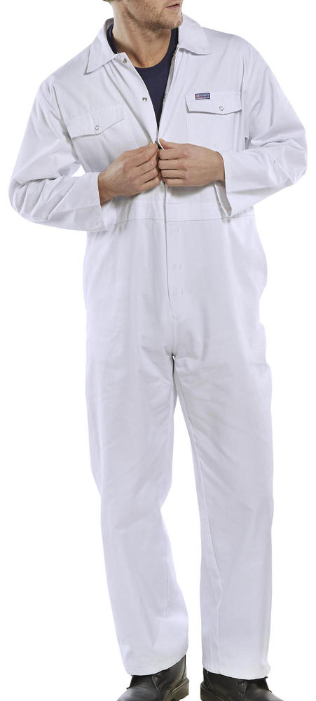 Beeswift Click PCBSW Polycotton Boiler Suit White