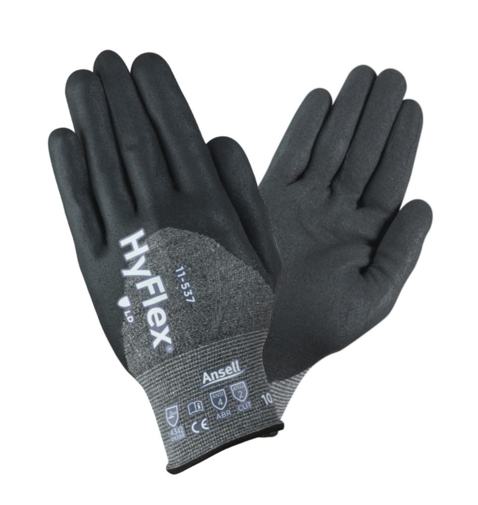 Ansell 11-541 HyFlex Safety Gloves Cut 4 Protection Nitrile Palm Coating