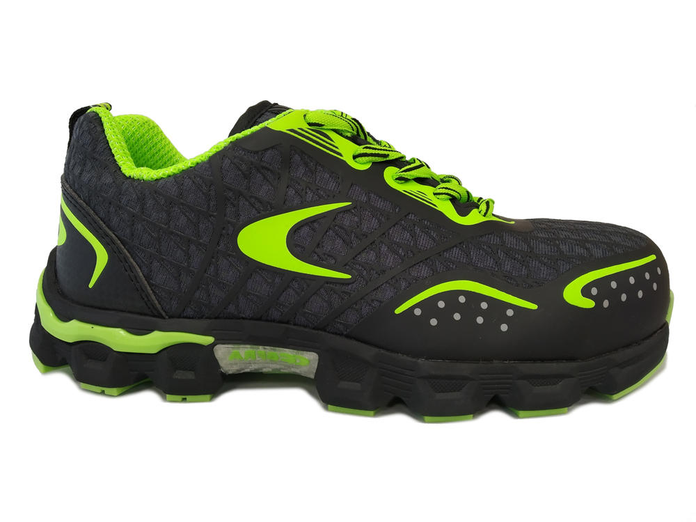 Cofra Low Kick Safety Trainer Shoes Breathable Mesh Upper Aluminium Toe Cap S1+P SRC