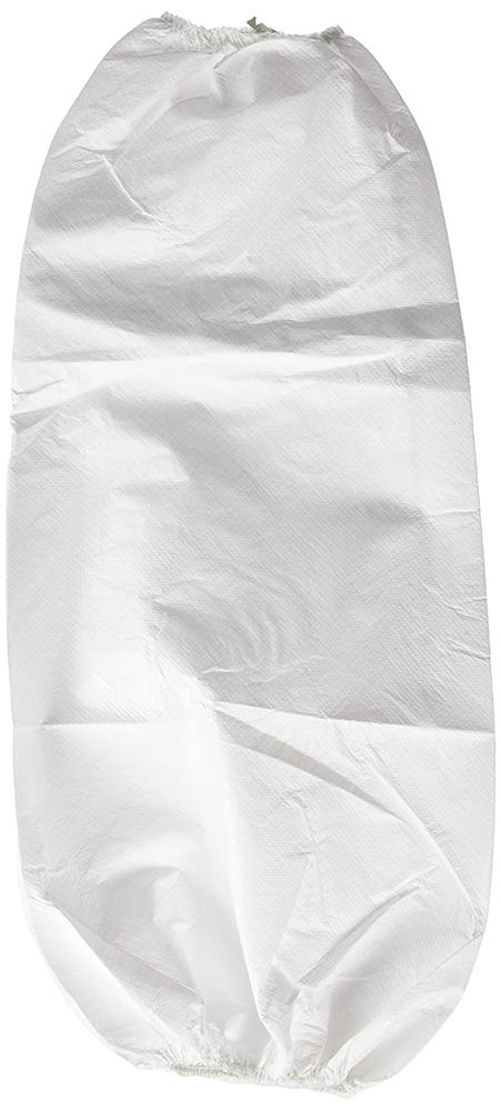 3M 444 White Oversleeves Elastic Cuff Case of 300 Units