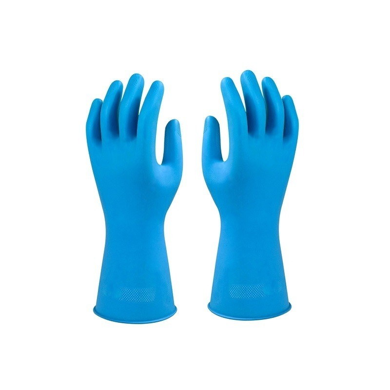 Ansell Foodsure U12B Unsupported Natural Latex Gauntlets Blue Size S