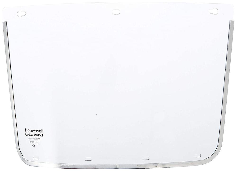 Honeywell CV83P Clearways Visor Replacement 200mm Polycarbonate Clear Chin Guard Slots