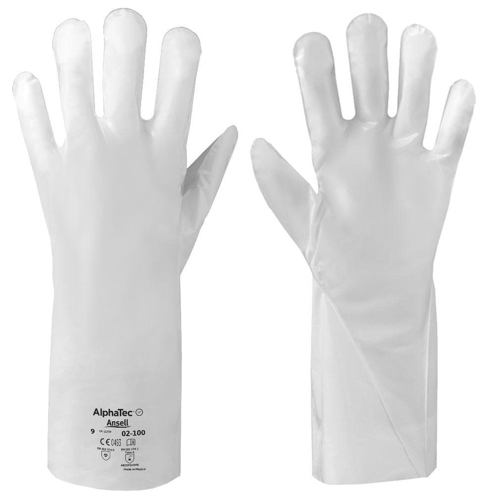 Ansell AlphaTec 02-100 Chemical Resistant Gauntlets