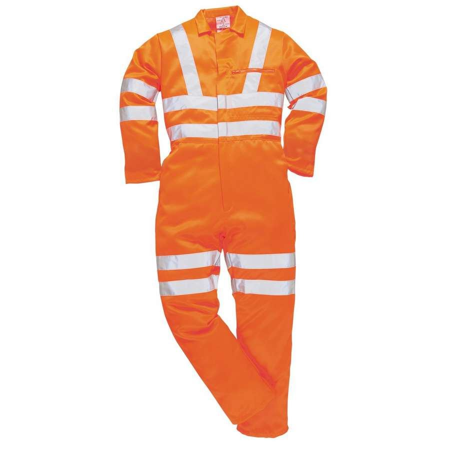 Portwest Hi-Vis Polycotton Stain Resistant Coverall E042 Orange XX-Large