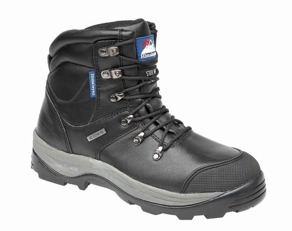 Himalayan 5205 Safety Hiker Boots Waterproof Black Size UK 8