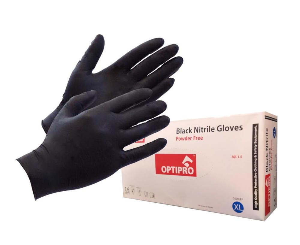 Optipro G5005 Tech-Plus Disposable Nitrile Gloves Powder Free Medical Grade Case of 1000