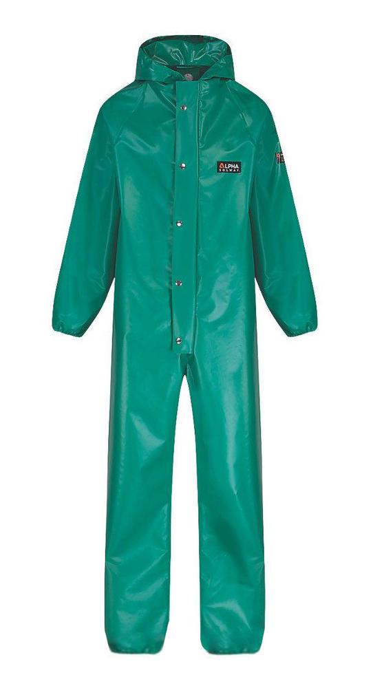 Alpha Solway CSBH-EWA Chemsol Plus Chemical Resistant Boiler Suit Green