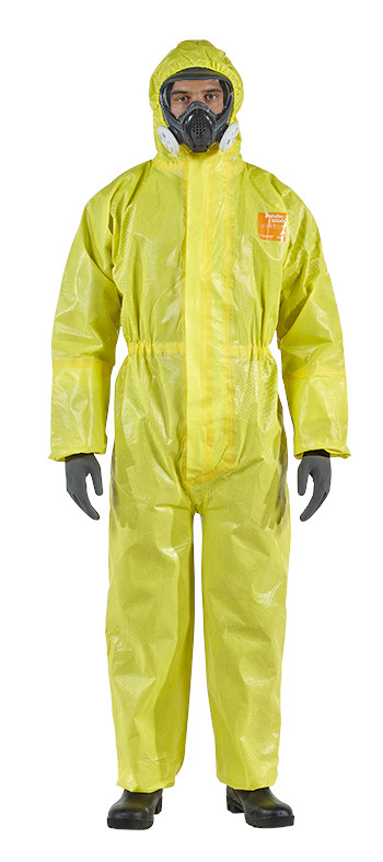Microchem 3000 Model 111 Disposable Chemical Resistant Coverall Size L