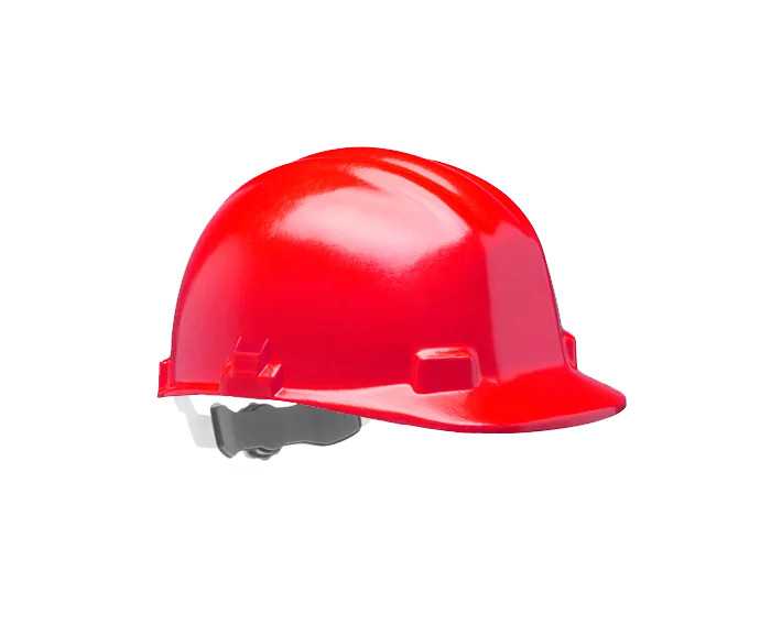 Centurion Vulcan S22R Fiberglass Safety Helmet Unvented Radiant Heat Resistant Red