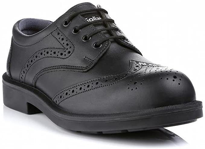 Goliath CL69 Executive Safety Shoes Wingtip Brogues Black