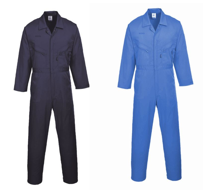 Portwest Liverpool 245g Polycotton Front Zip Coverall S813 Polycotton