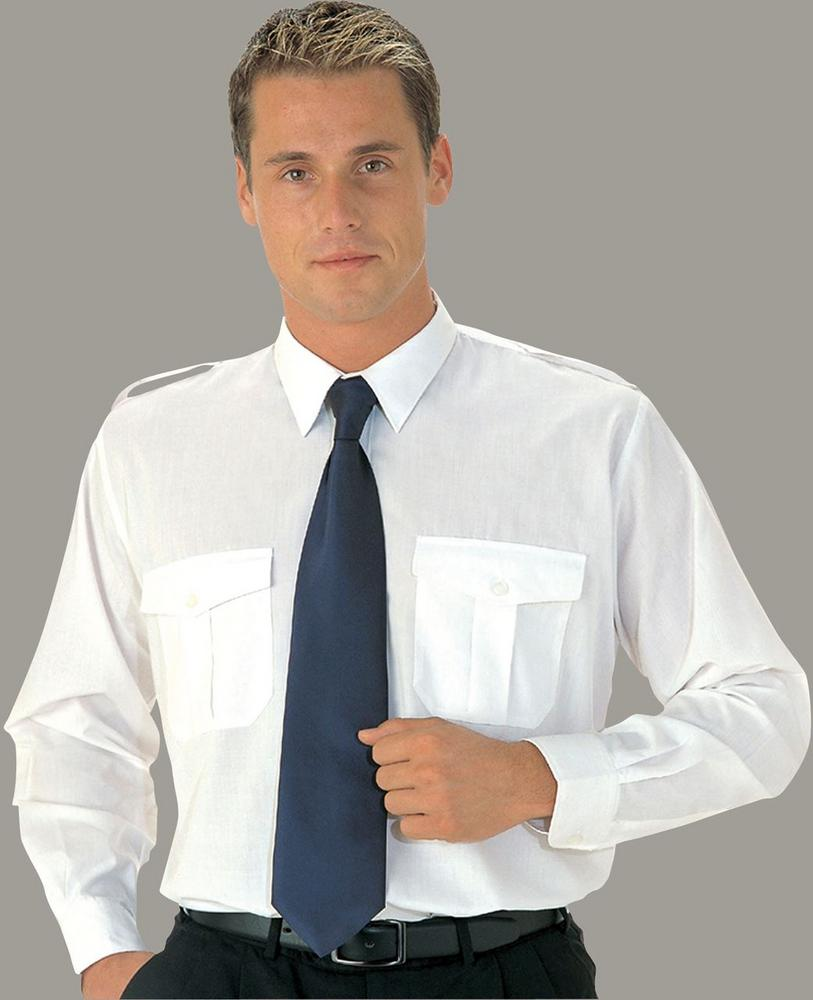 Portwest S102 Long Sleeve Pilot Shirt Polyester/Cotton White