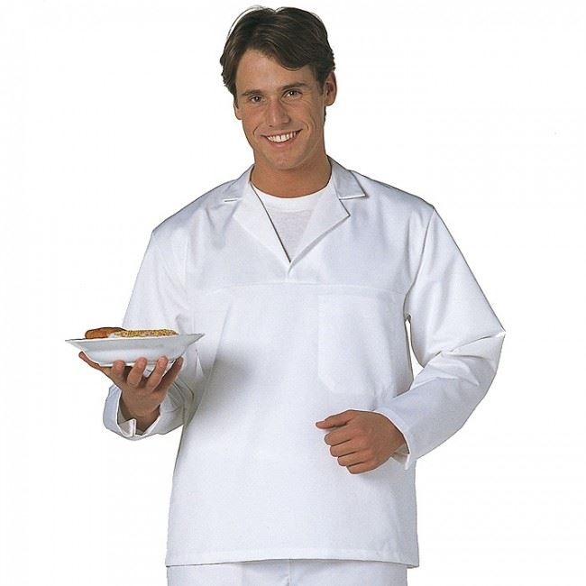 Portwest Long Sleeved Restaurant or Bakers Shirt 2203 Polycotton White