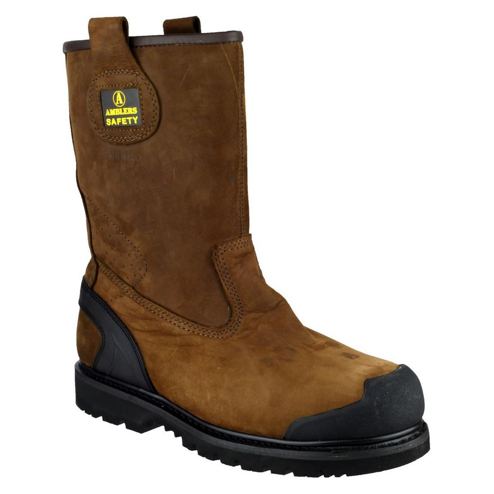 Amblers FS223 S3 Nubuck Safety Rigger Boot Tan