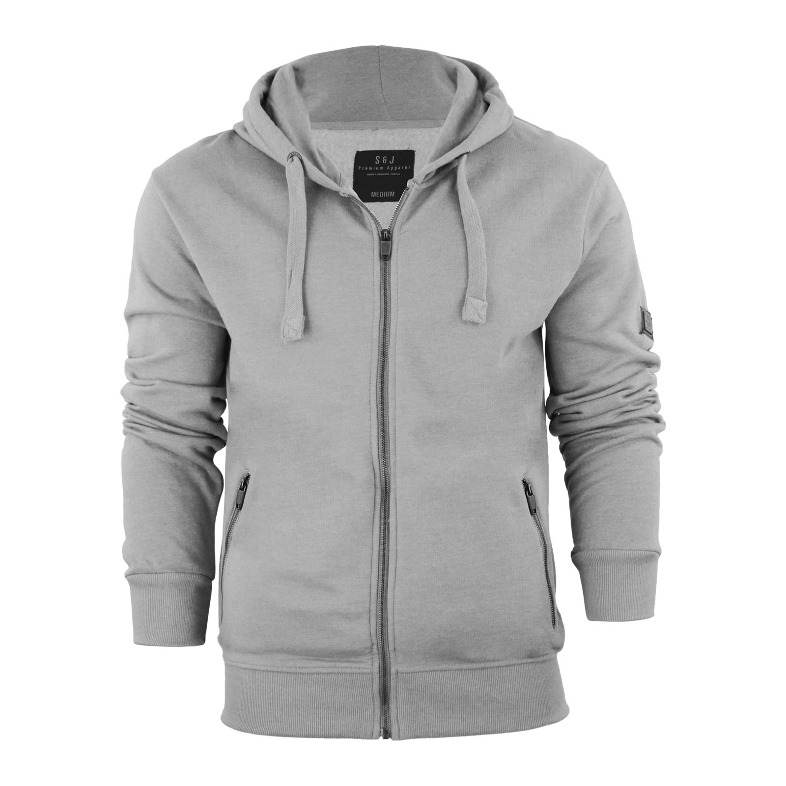 Mens Hoodie Smith & Jones Plazzio Zip up Hooded Sweater LT Grey ...