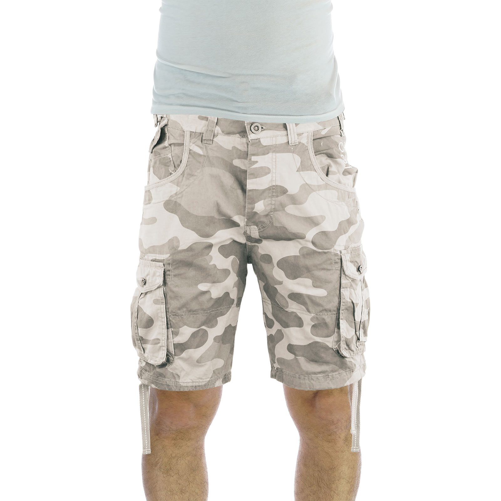 Mens Cargo Shorts Crosshatch Crossfin Camo Army Camouflage Print ...