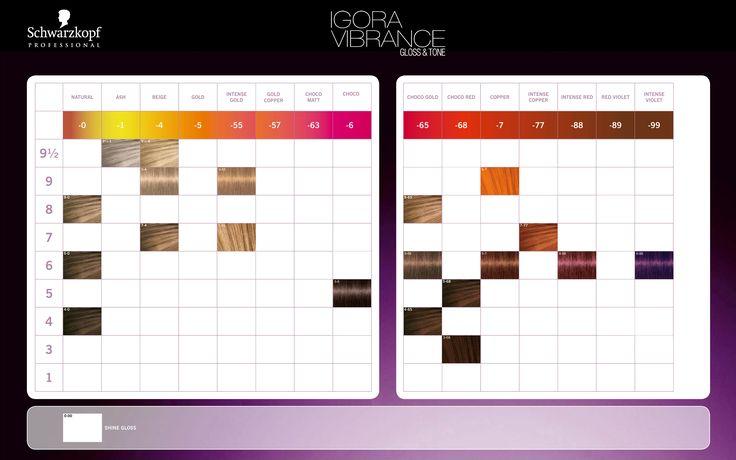 Schwarzkopf Igora Tone Colour Chart 754220633325 Ebay