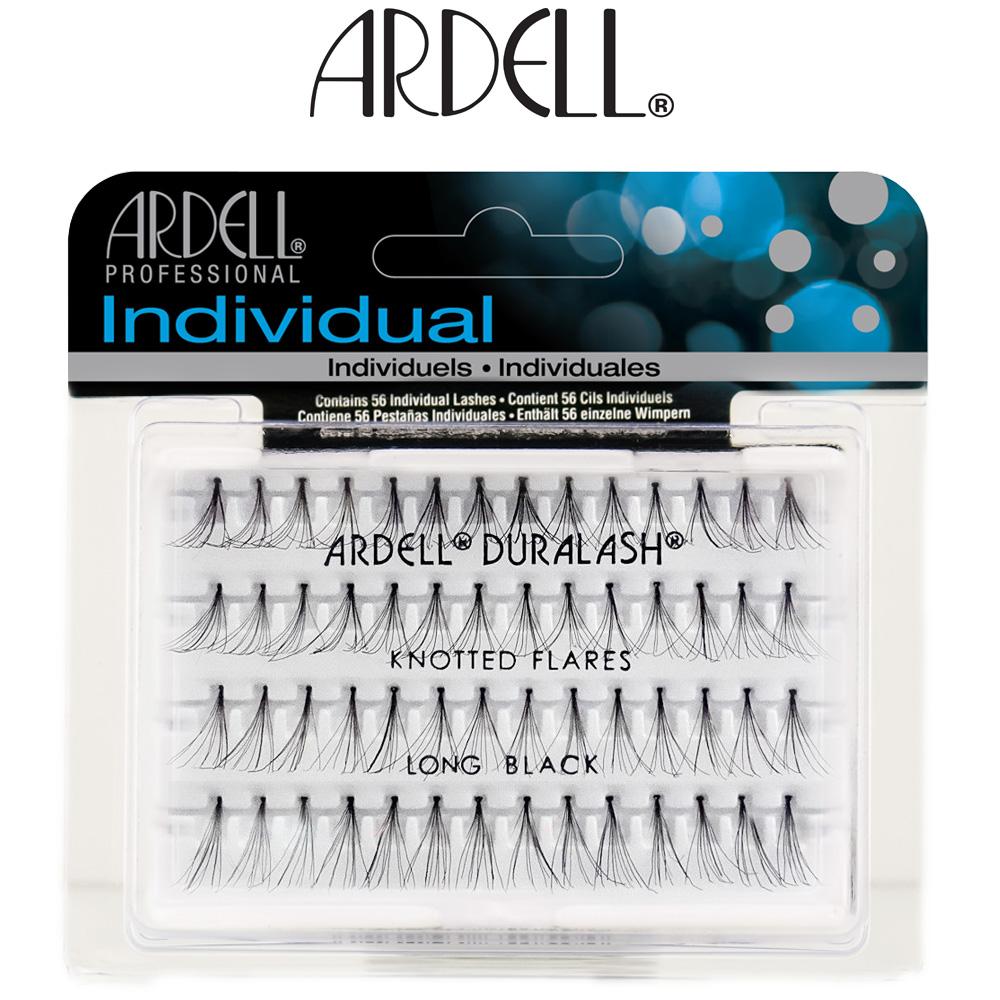 0448a51cd2f Ardell Duralash Individual Knotted Flare Eyelashes - Long Black | eBay