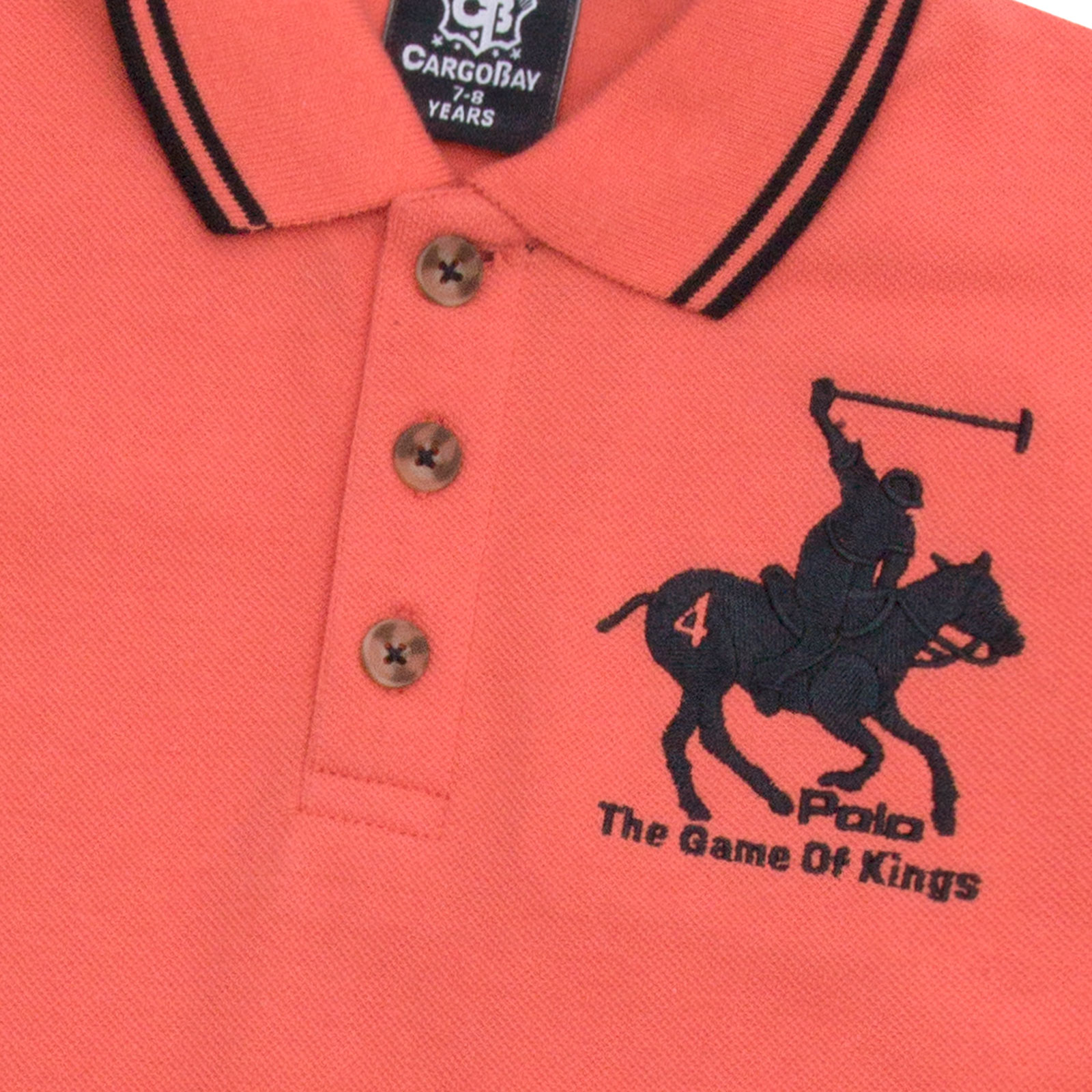 Boys-T-Shirt-Horse-Embroidery-Polo-Cotton-Top-Age-2-3-4-5-6-7-8-9-10-11-12-13-Yr thumbnail 3