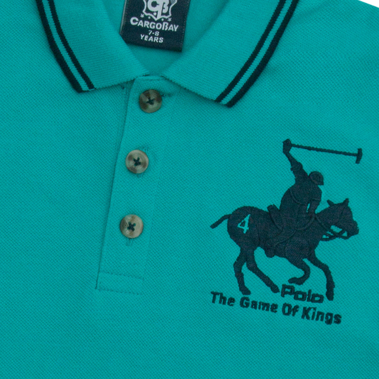 Boys-T-Shirt-Horse-Embroidery-Polo-Cotton-Top-Age-2-3-4-5-6-7-8-9-10-11-12-13-Yr thumbnail 12