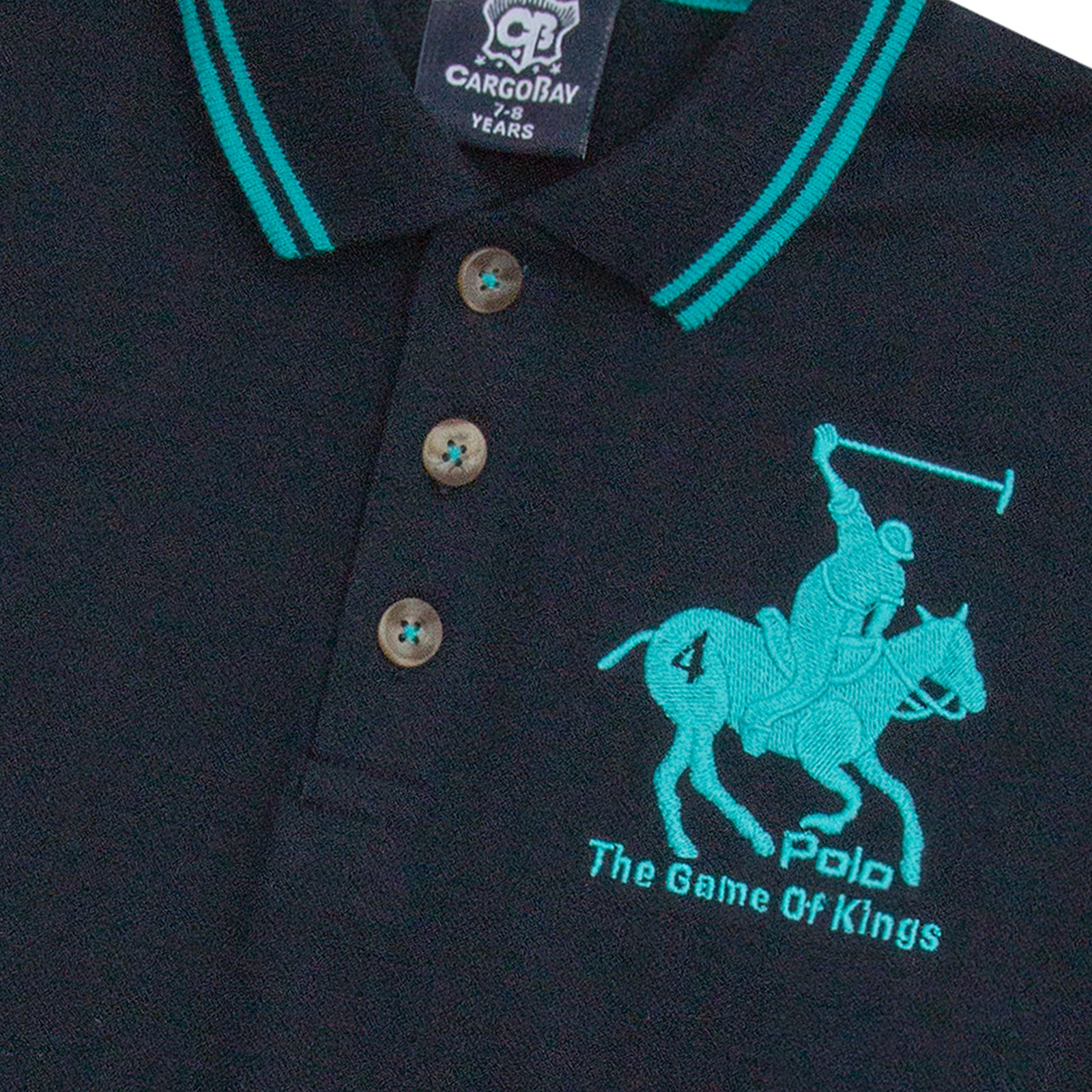 Boys-T-Shirt-Horse-Embroidery-Polo-Cotton-Top-Age-2-3-4-5-6-7-8-9-10-11-12-13-Yr thumbnail 25