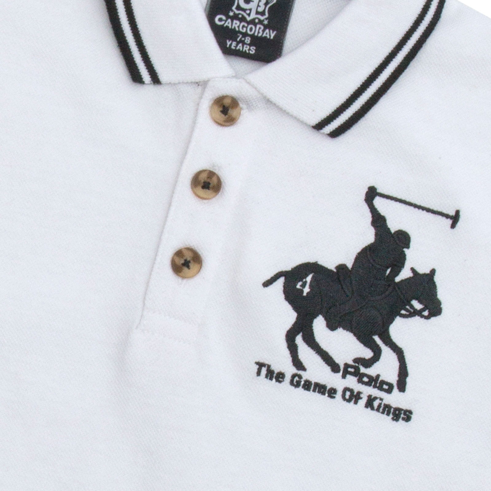 Boys-T-Shirt-Horse-Embroidery-Polo-Cotton-Top-Age-2-3-4-5-6-7-8-9-10-11-12-13-Yr thumbnail 27