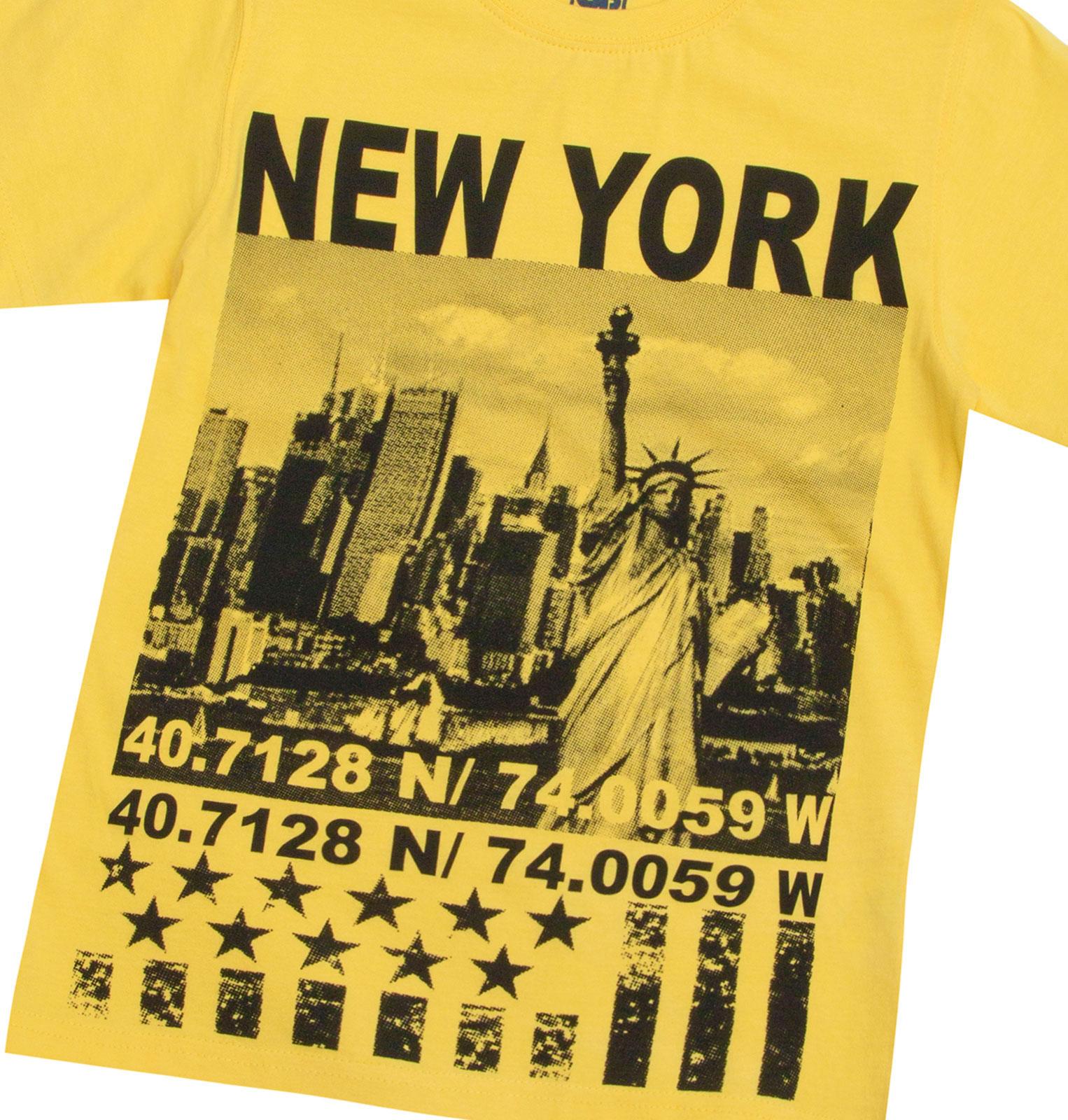 Garcons-Neuf-en-coton-T-shirt-a-encolure-ras-du-cou-d-039-ete-Enfant-Top-2-3-4-5-6-7-8-9-10-11-12-13 miniature 19