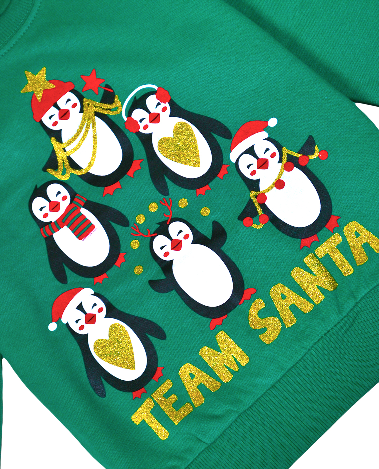 Kids Christmas Jumper Girls Boys Xmas Cotton Sweatshirt Pull Over Top 2-6 Yrs