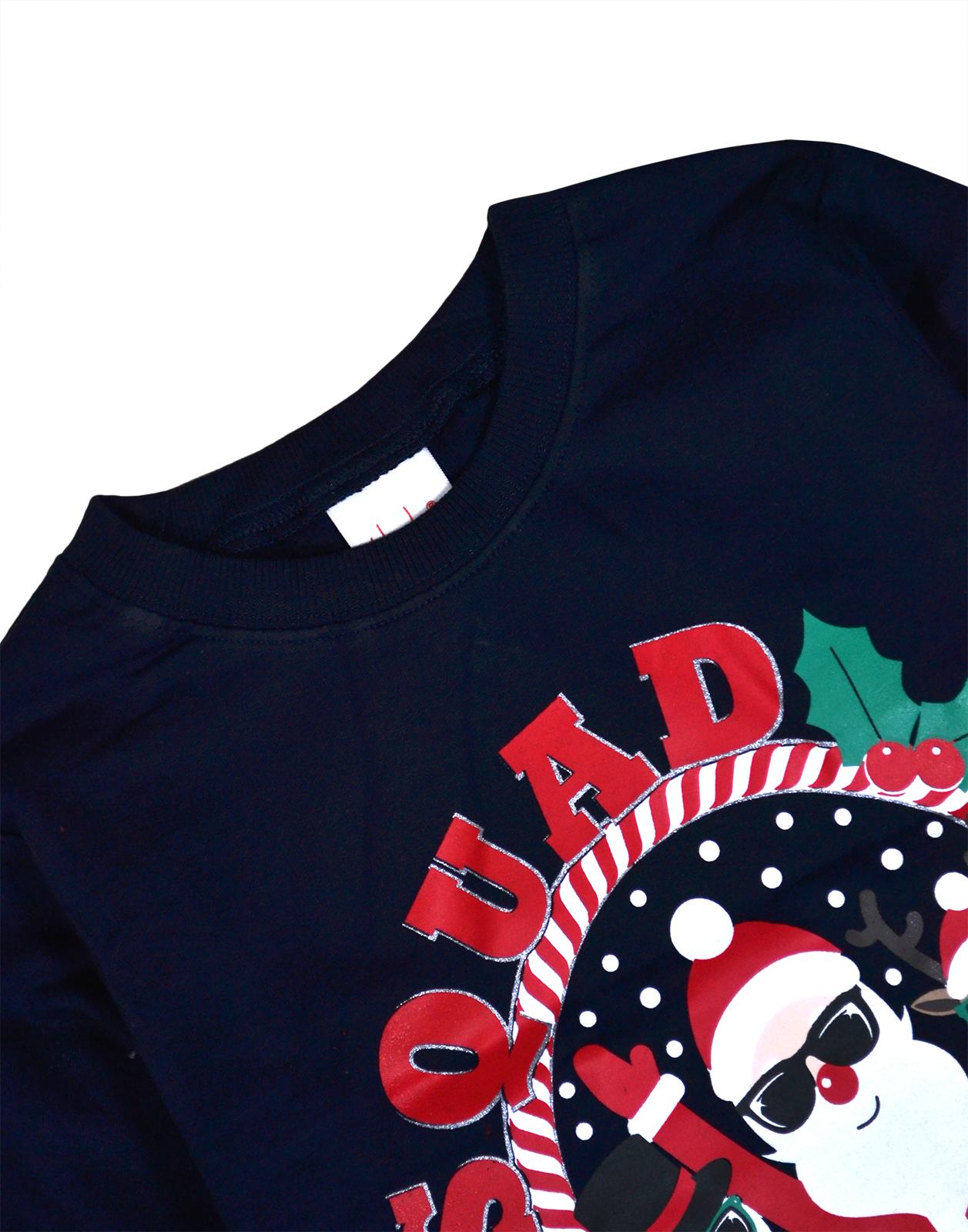 Chicas-chicos-Navidad-Jersey-Top-Sudadera-de-algodon-Kids-Xmas-nuevo-7-13-anos-de-edad miniatura 9