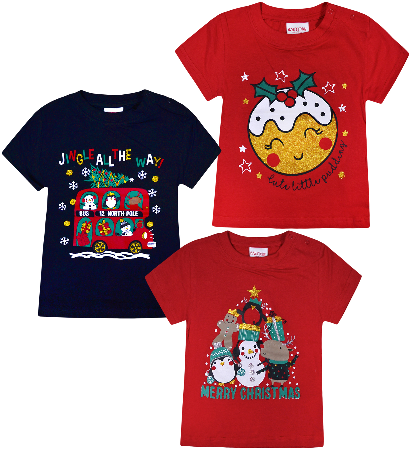 Kids Christmas Shirts.Details About Baby Girls Boys Christmas T Shirts Kids Xmas Top Red Navy Age 3 24 Months