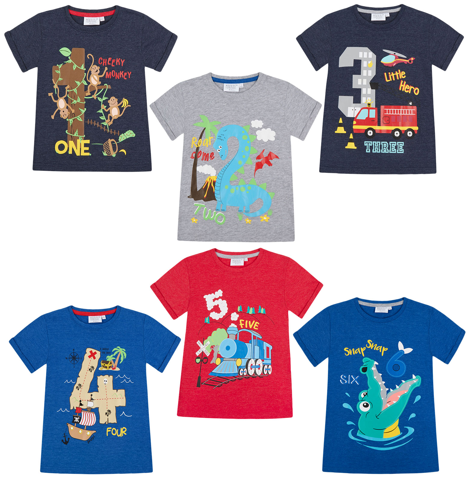 Boys-Birthday-I-Am-1-2-3-4-5-6-Years-Top-Kids-New-Age-Number-Birthday-T-Shirt thumbnail 8