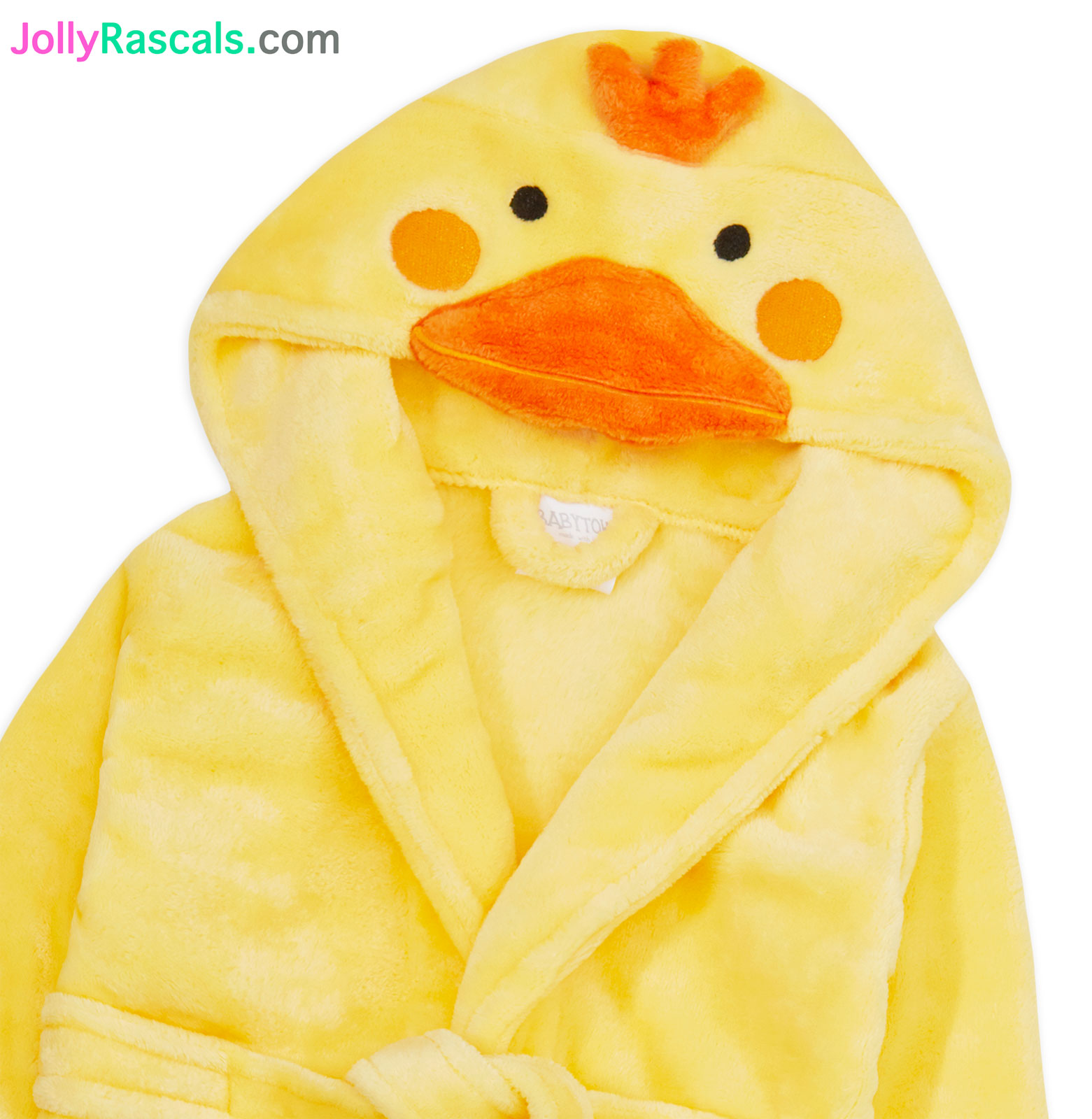 JollyRascals Girls Boys Baby Dressing Gown New Novelty Kids Unisex Bath Robe Duck or Elephant Ages 6-24 Months