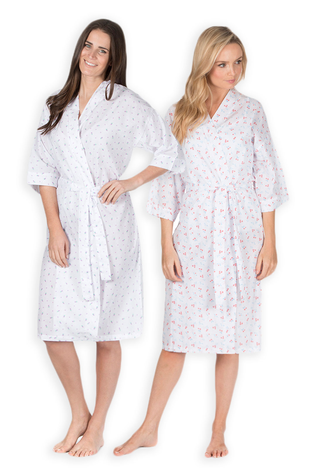 Ladies Bathrobe New Womens Plus Size Robe Floral Summer Dressing