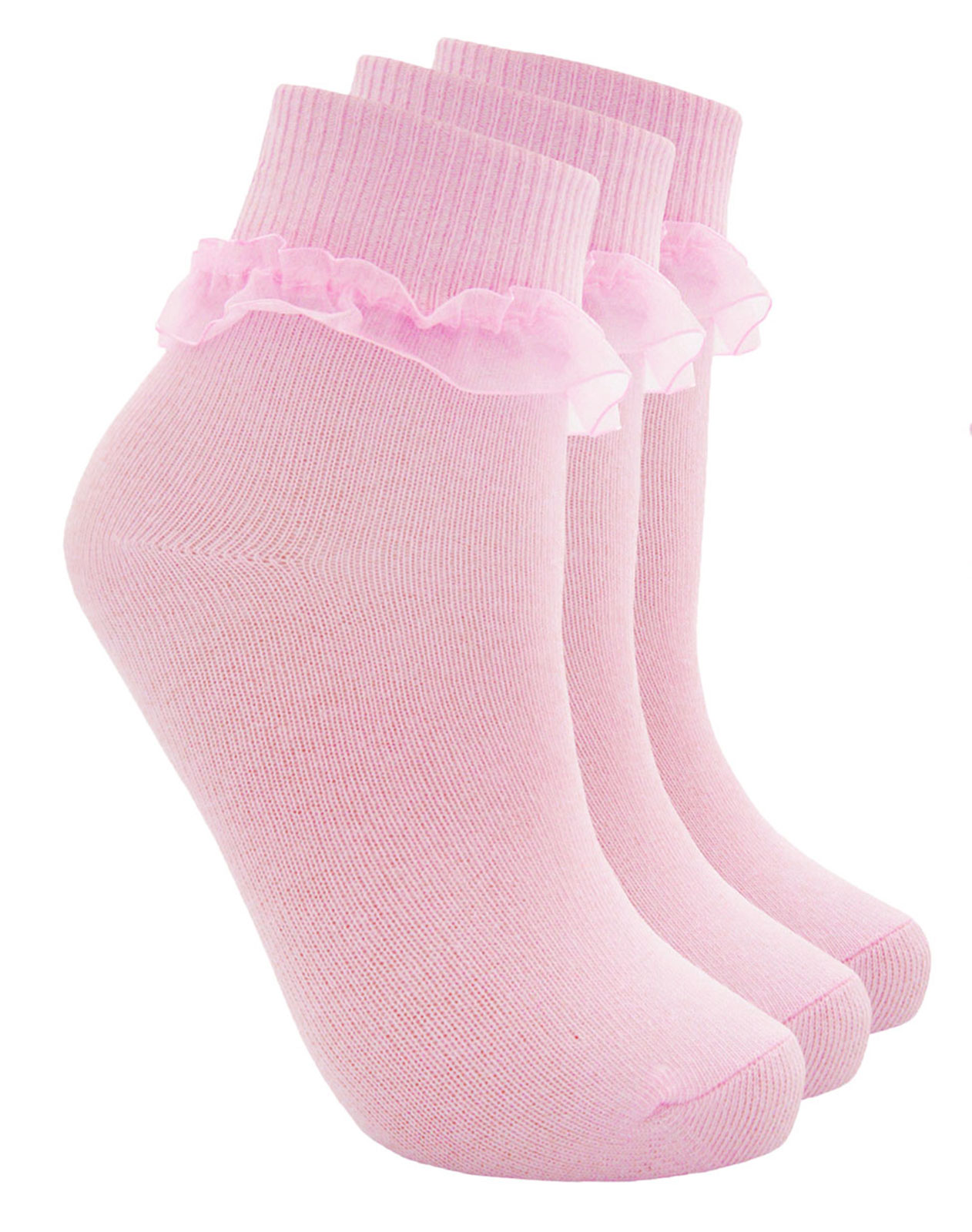 12 Pairs Girls Frilly Socks Kids School White Lace Ankle Summer Cotton Pack 6
