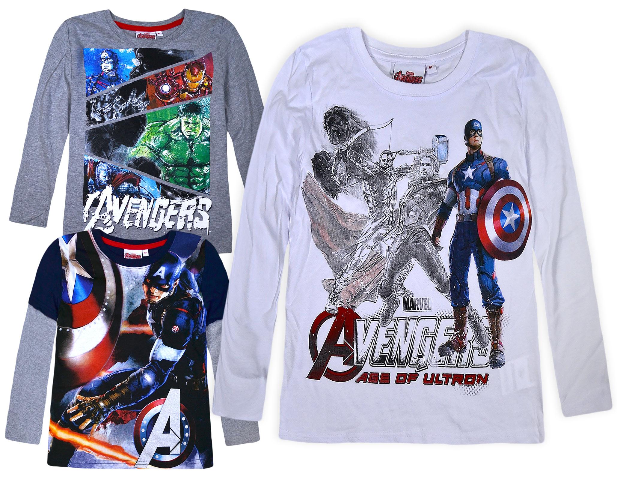Marvel Boys Marvel Logo Long Sleeve T-Shirt