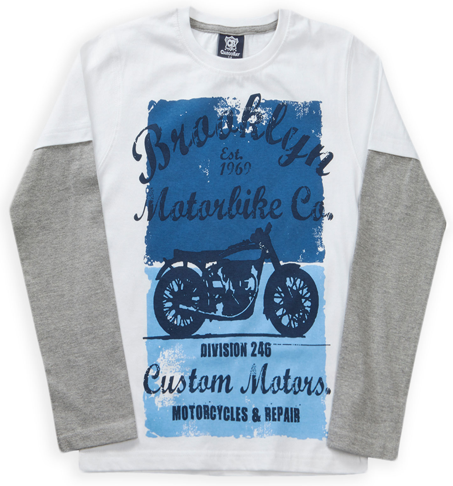 Boys-T-Shirt-New-Kids-Long-Sleeved-Overlay-Cotton-Slogan-Top-Age-2-3-4-5-6-Years