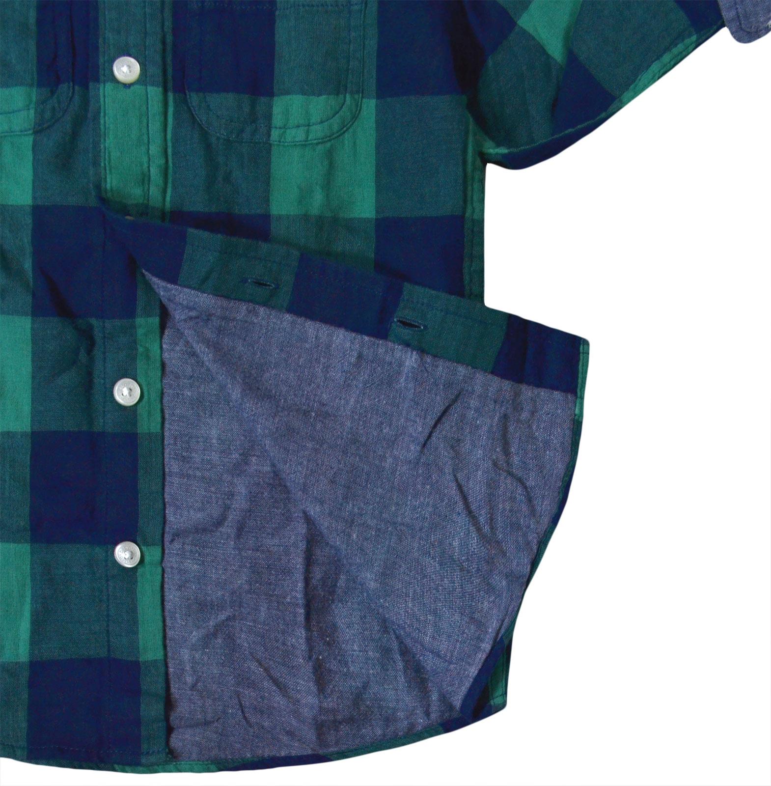 Boys-Ex-GAP-Shirt-Boy-Long-Sleeve-Cotton-Top-Green-Check-Ages-2-3-4-5-6-Years miniatura 3