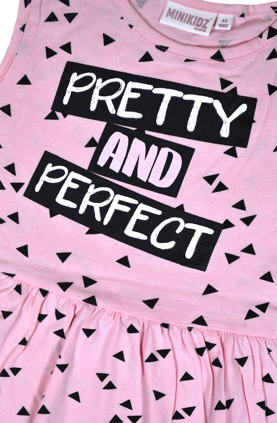 Girls-Summer-Dress-Kids-New-Skater-Dress-Cotton-Pink-Black-Age-2-3-4-5-6-7-8-Yrs thumbnail 3