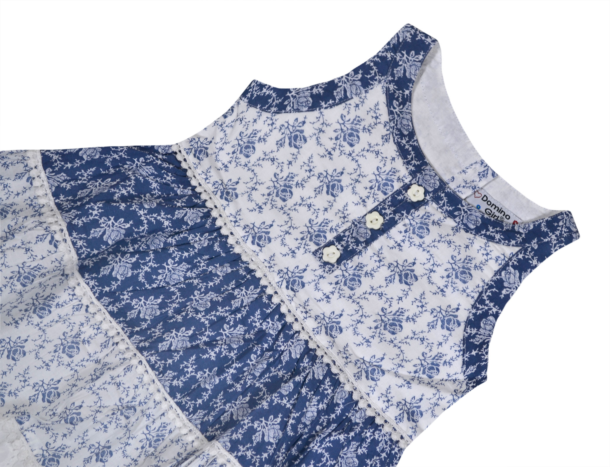 Girls Summer Fashion Thin Dress Sleeveless Floral Skirt Hot Dress Kids N5U3