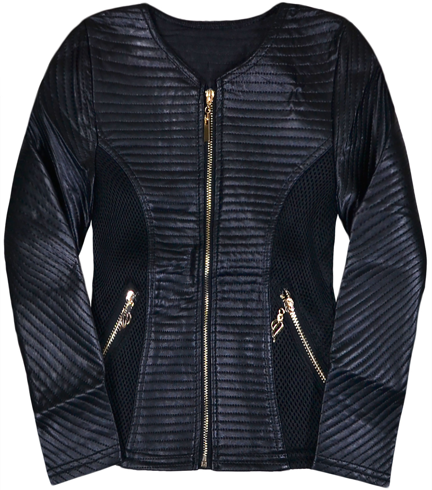 leather quilt jacket aeropostale faux main quilted moto